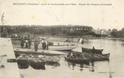 """CPA FRANCE 29 """" Bénodet, Quai de l'embarcadère sur l'Odet""""."""