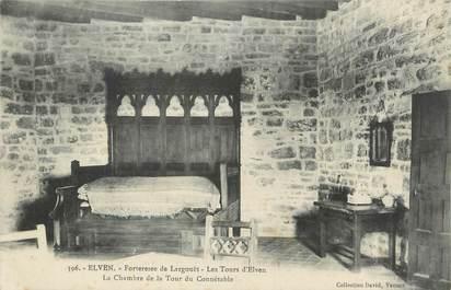 """CPA FRANCE 56 """" Elven, Forteresse de Largouët, La chambre de la tour du Connétable""""."""