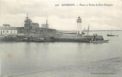 """CPA FRANCE 56 """" Quiberon, Phare et pointe de Port Haliguen""""."""