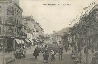 """CPA FRANCE 56 """" Lorient, Cours de la Bôve""""."""