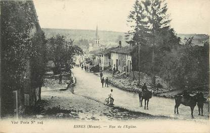 "CPA FRANCE 55 ""Esnes, Rue de l'Eglise"""