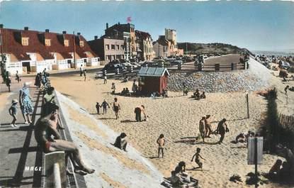 """CPSM FRANCE 80 """" Quend - Plage les Pins, L'entrée de la plage""""."""