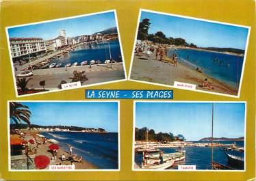 """CPSM FRANCE 83 """" La Seyne sur Mer, Les plages""""."""