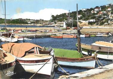 """CPSM FRANCE 83 """" Le Pradet, Le port des Oursinières""""."""
