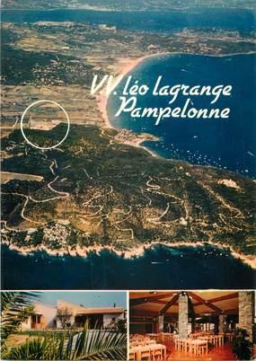 """CPSM FRANCE 83 """" Ramatuelle, Village de vacances de Pampelonne Léo Lagrange""""."""