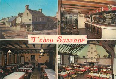 """CPSM FRANCE 50 """" Montfarville, Auberge Normande chez Suzanne""""."""