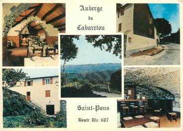 "CPSM FRANCE 34 "" St Pons, Auberrge du Cabaretou""."
