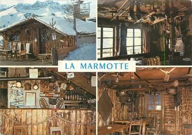 """CPSM FRANCE 05 """"St Veran, Café La Marmotte""""."""
