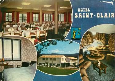 """CPSM FRANCE 04 """" St Etienne Les Orgues, Hôtel St Clair""""."""