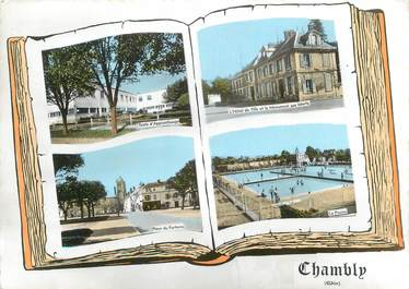 """CPSM FRANCE 60 """" Chambly, Vues""""."""