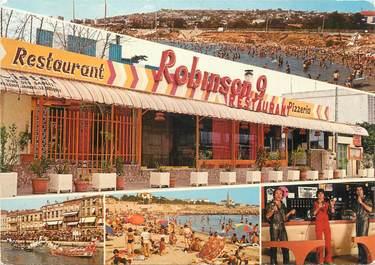 """CPSM FRANCE 34 """" Sète Restaurant Le Robinson""""."""