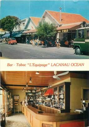 """CPSM FRANCE 33 """" Lacanau Océan, Bar tabac l'Equipage""""."""