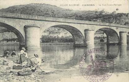 """CPA FRANCE 46 """" Cahors, Le pont Louis Philippe""""."""