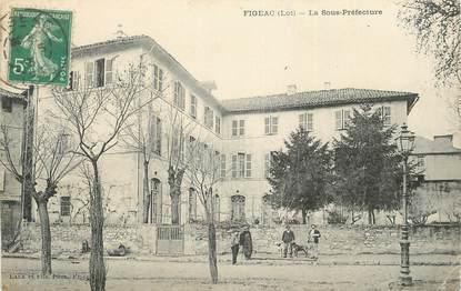 """CPA FRANCE 46 """" Figéac, La Sous Préfecture""""."""