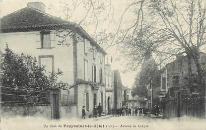 """CPA FRANCE 46 """" Frayssinet le Gélat, Avenue de Cahors""""."""
