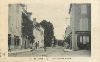 "CPA FRANCE 46 ""Prayssac, Avenue Colonel Pardes""."