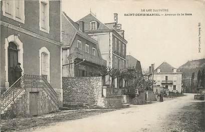 "CPA FRANCE 46 ""St Denis Martel, Avenue de la gare""."