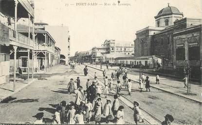 "CPA EGYPTE ""Port Saïd, rue de Lesseps"""