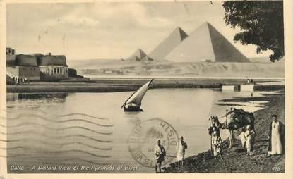 """CPA EGYPTE """"Le Caire, les pyramides de Gizeh"""""""