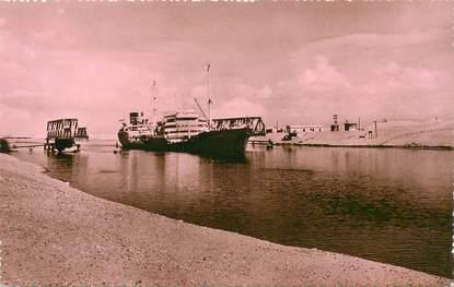 """CPSM EGYPTE """"Ismailia, bateau traversant le pont de Ferdane"""""""