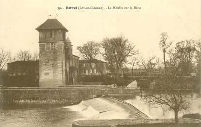 """CPA FRANCE 47 """"Buzet, Le moulin sur la Baïse""""."""