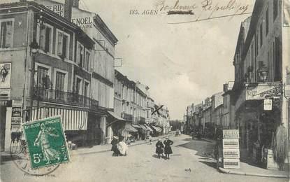 """CPA FRANCE 47 """"Agen, Boulevard République""""."""