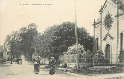 "CPA FRANCE 47 ""Clairac, Promenade et oratoire""."