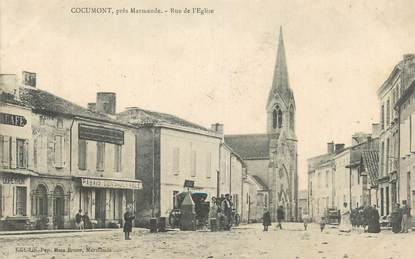 """CPA FRANCE 47 """"Cocumont, Rue de l'église""""."""