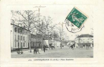 "CPA FRANCE 47 "" Casteljaloux, Place Gambetta""."