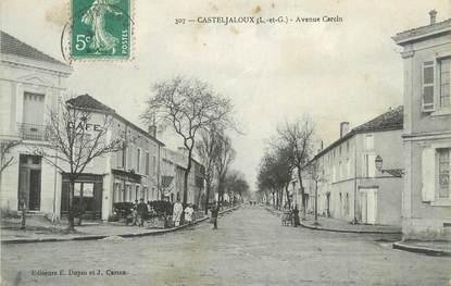 """CPA FRANCE 47 """" Casteljaloux, Avenue Garcin""""."""