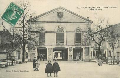 """CPA FRANCE 47 """" Casteljaloux, L'Hôtel de Ville""""."""