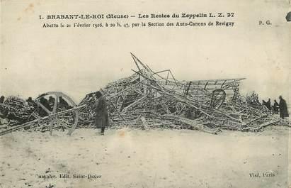 """CPA FRANCE 55 """"Brabant le Roi, Les Restes du Zeppelin"""" / ACCIDENT"""