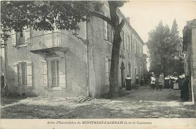 """CPA FRANCE 47 """" Montpezat d'Agenais, Asile d'incurables""""."""