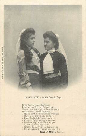 """CPA FRANCE 47 """" Marmande, Coiffure du pays"""". / FOLKLORE"""