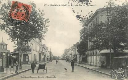 "CPA FRANCE 47 "" Marmande, Route de Miramont""."