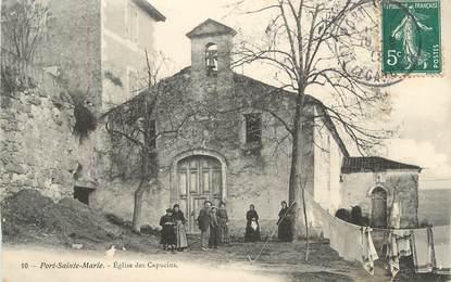 """CPA FRANCE 47 """" Port Ste Marie, Eglise des Capucins""""."""
