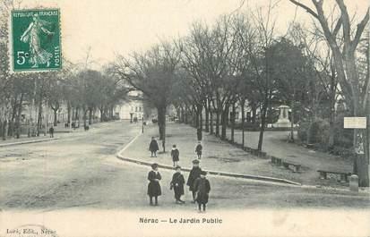"CPA FRANCE 47 "" Nérac, Le jardin Public""."