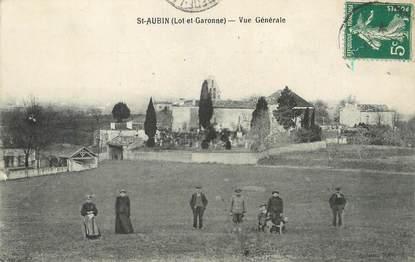 """CPA FRANCE 47 """"St Aubin, Vue générale""""."""