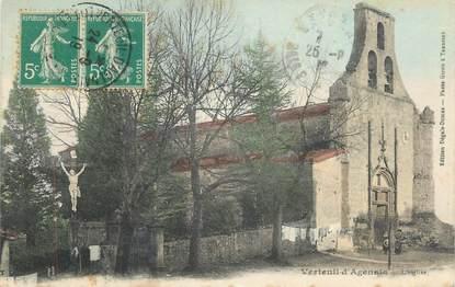 """CPA FRANCE 47 """"Verteuil d'Agenais, L'église""""."""