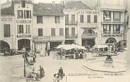 """47 Lot Et Garonne CPA FRANCE 47 """" Villeneuve sur Lot, Place du marché, les Cornières""""."""