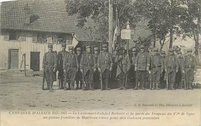 """CPA FRANCE 90 """" Montreux Vieux, Le Lieutenant Colonel Richard """"."""