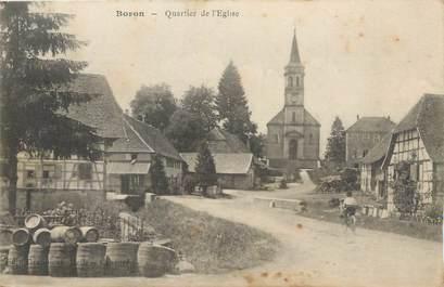 """CPA FRANCE 90 """" Boron, Quartier de l'église""""."""