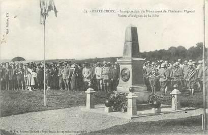 """CPA FRANCE 90 """" Petit Croix, Inauguratiion du Monument de l'Aviateur Pégoud""""."""