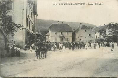 """CPA FRANCE 90 """" Rougemont le Château, Concert militaire""""."""