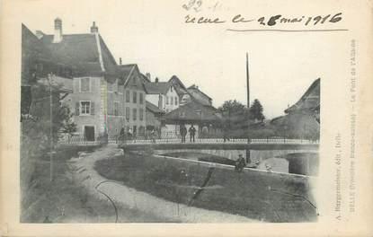 """CPA FRANCE 90 """" Delle, Le Pont de l'Allaine""""."""