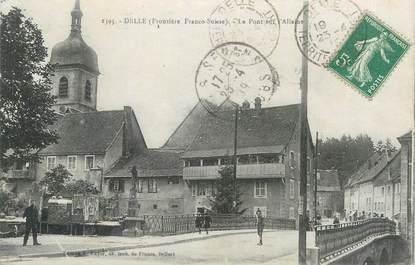 """CPA FRANCE 90 """" Delle, Le pont sur l'Allaine""""."""