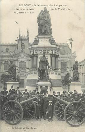 """CPA FRANCE 90 """" Belfort, Le monument des 3 sièges""""."""