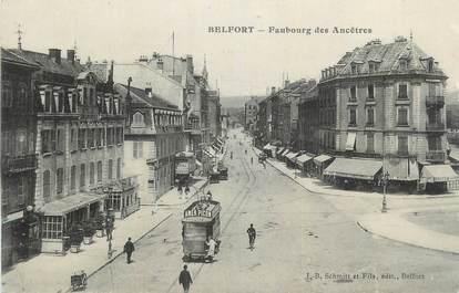 "CPA FRANCE 90 "" Belfort, Faubourg des Ancêtres"". / TRAM"