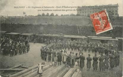 """CPA FRANCE 90 """" Belfort, 35ème régiment d'infanterie""""'. / GREVES DE LENS"""