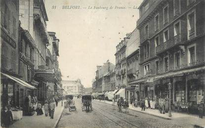 """CPA FRANCE 90 """" Belfort, Le Faubourg de France""""."""